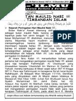 Edisi 1437-03-06 Peringatan Maulid Nabi Dalam Timbangan Islam