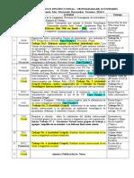 Cronograma Actividades (Diseño Tecnologico Instruccional ) 2016-3