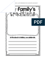 my family tradition worksheet