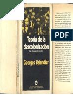 Balandier, Georges - Teoría de la descolonización, Ed. Tiempo Contemporaneo, 1973.pdf