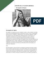 Representantes de La Filosofia Medievall