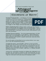 Champions of Krynn - Ref Card