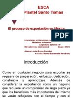 El Proceso de Exportacion en Mexico