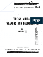 DAPAM 30-4-4 - Foreign Military Weapons and Equipment. Vol. I, Artillery - 1955