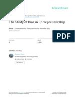 TheStudy of Bias in Entrepreneurship