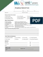 disciplinary referral form - google docs