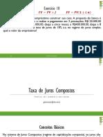5. Mf Taxa de Juros Compostas Com Exercícios Extras