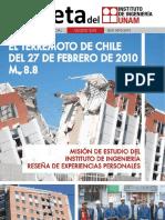 Gaceta Espeterremomo de chile 27 feb 2010