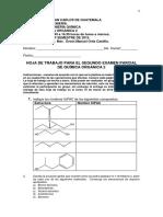 Hoja de trabajo para el segundo examen de Química  Orgánica 2 primer semestre de 2015.pdf