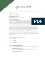 Examen Diagnóstico Artes Visuales III