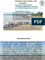 Exposicion Contaminacion Agua Unia. 2016.