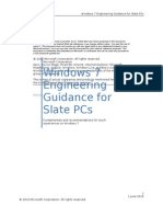 Windows 7 Engineering Guidance for Slate PCs