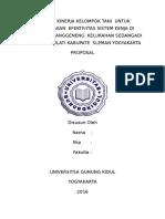 Analisa Kinerja Kelompok Tani Untuk Meninkatakan Efektivitas Sistem Kenja Di Kampung Karanggeneng Kelurahan Sedangadi Kecamatan Mlati Kabupate Sleman Yogyakarta