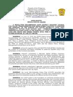 DACPTD Resolution 05-2016