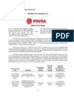 PDVSA Supplemental Offering Circular 26 Sept 2016