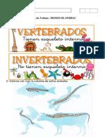 Ficha 2 , SEMÁNTICA, Animales Vertebrados e Invertebrados
