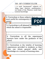 Definitions of Curriculum