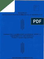 Peraturan Menteri Kesehatan Nomor 363 Tahun 1998 Tentang Institusi Penguji Alat Kesehatan Buku Pedoman