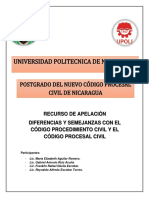 Recurso de Apelación en el Nuevo Código Procesal Civil de Nicaragua