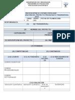 Formatos de Planeación de Escuelas de Flia y Proyecto de Aula