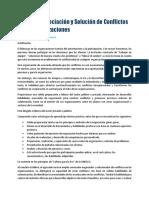 Taller en Negociación y Solución de Conflictos en Las Organizaciones