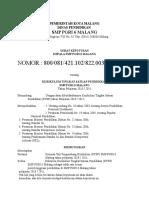 Contoh Surat Keputusan KTSP