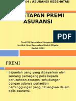 3. PENETAPAN PREMI ASURANSI (Penetapan Premi Asuransi) (2)