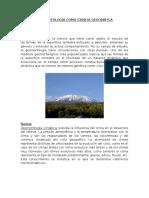 Geomorfología Como Ciencia Geográfica
