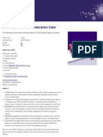 Cadbury Kitchen - Cadbury Chocolate Celebration Cake Recipe
