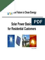 Solar Power Basics