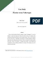 Porsche-Volkswagen Case Study