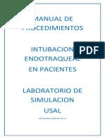 Manual de Procedimientos Intubacion Endotraqueal