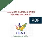 Proyecto Fabricacion de Bebidas Naturales