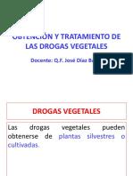 Clase 2 - Obtención y Tratamiento de Las Drogas Vegetales