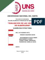Informe de Unidades de Albañileria