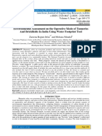 Environmental Assessment on the Operative Mode of Tanneries And Brickfields In India Using Water Footprint Tool
