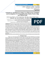 Detection of Chromium (Cr) using X-ray Fluorescence Technique and Investigation of Cr Propagation from Poultry Feeds to Egg and Chicken Flesh