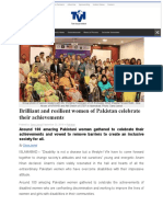 Brilliant and resilient women of Pakistan celebrate their achievements