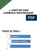 Struktur Dan Lembaga Masyakarat (Zahwa d)