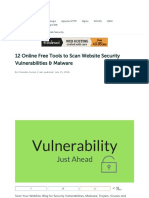 12 Online Free Tools to Scan Website Security Vulnerabilities & Malware