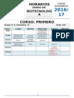 Biotecnologia_2016-17PropuestaHorariosv1