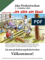 Poster Dyslexiveckan 2016