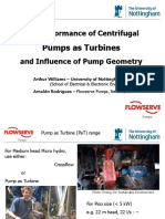 3. Arthur Williams - The Performance of Centrifugal Pumps as Turbines and Influence of Pump Geometry