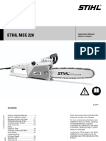 STHIL MSE_220 Manual