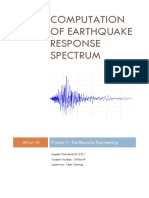 computation of earthquake response spectrum