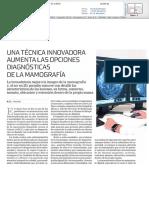 Una Técnica Innovadora aumenta las opciones diagnósticas de la mamografía
