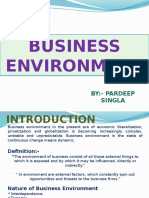 (Nature, Components & Determinants of Business Env.)