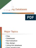 Note 13 - Designing Databases