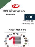Business Policy of Mahindra