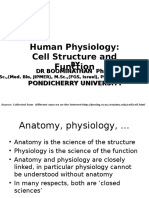 Human Physiology Cell Structure Function I Lecture 31.July .2012
